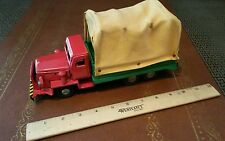 Vintage tin toy canvas truck  friction powered S1134 made in japan tin toy lot