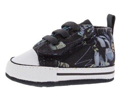 f7c43ba9d478 Converse First Star Batman Printed Casual Infant Crib Shoes Size  2 ...