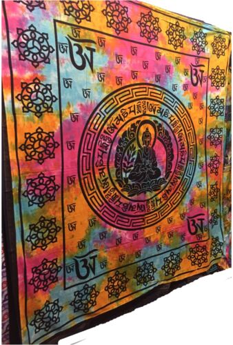 Buddha Tapestry Wall Hangings large indian wall hanging meditation buddha tapestry chakra boho