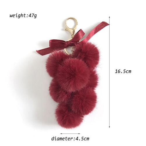 Pom Pom Faux Fur Ball Car Key Chain Ring Keyring Women/'s Bag Accessories Decor