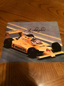 JOHNNY RUTHERFORD SIGNED AUTOGRAPHED 8X10 PHOTO MOTORSPORTS HALL OF FAME 1995 1