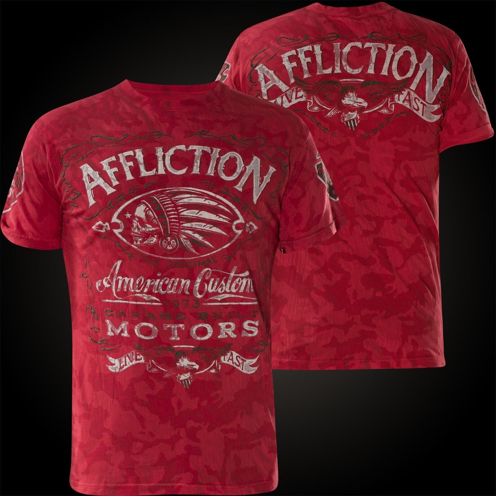 Affliction T-shirt proibizionismo Rosso T-shirts