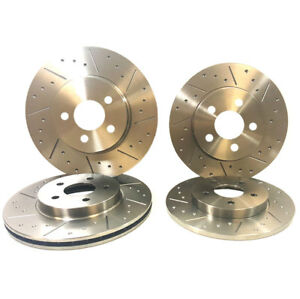 BMW-3-Series-E90-E92-E93-325d-07-12-Dimpled-Grooved-Front-amp-Rear-Brake-Discs
