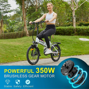 Electric Bikes Mountain Bike 20inch Folding Ebike E-Citybike Bicycle 350W 35km/h