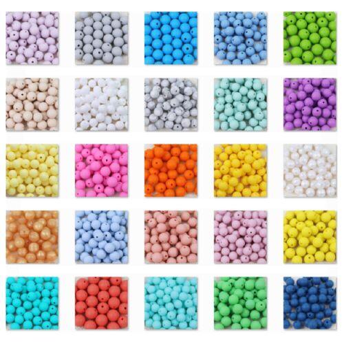 Creation Bijoux Attache tetine ... 10 Perle 12mm Silicone Couleur au Choix