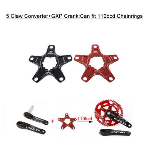 GXP 170mm Crank 32-38T 6mm Narrow Wide Chainring MTB Bike Crankset Aluminum US