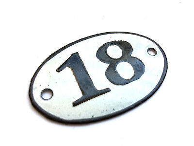 Personalised enamel house number plaqueoval 4x6 cm door room sign