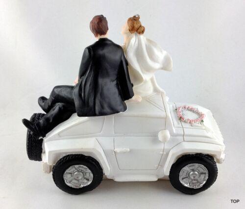 Hochzeitspaar Auto Brautpaar Tischfigur Dekorationsfigur Tortenfigur Hochzeit