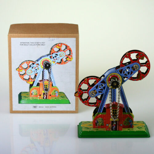 MS434 Tin Toy Twin Ferris Wheel Vintage Windup Replica collectible windup retro