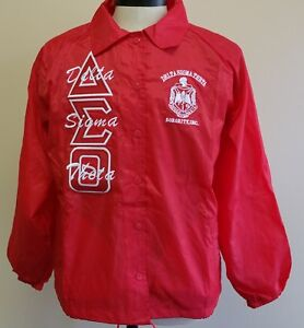 Details about Delta Sigma Theta Sorority Line Jacket 1913 Fortitude Red  Crossing Line Jacket