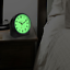 Large 4.72 in Black Analog Alarm Table Clock with Night Vision Technology