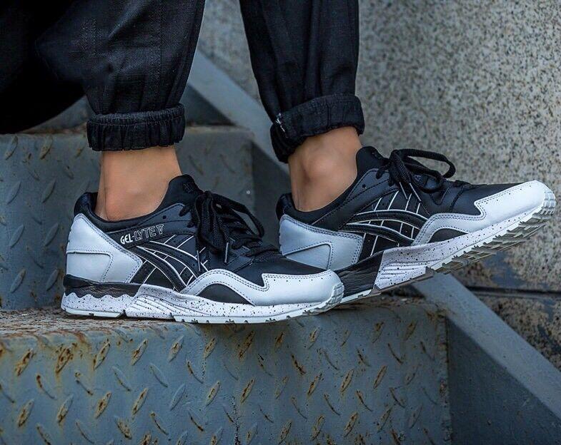 Asics Gel Lyte V H6Q1L 9090 Negro blancoo Moteado Oreo Pack para hombres zapatos para correr