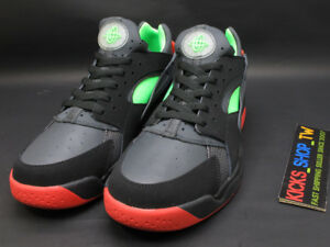 84c064723822 DS 2016 NIKE AIR FLIGHT HUARACHE LOW MENS BLACK GREEN RED 90S RETRO ...