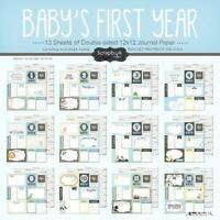 Scrapbook Customs Baby Boy First Months Scrapbooking Kit, New, Free Shipping