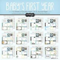 Scrapbook Customs Baby Boy First Months Scrapbooking Kit, New, Free Shipping