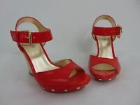 Authentic Guess Wedge Red Women's Shoes Size 7 1/2m (a6591)