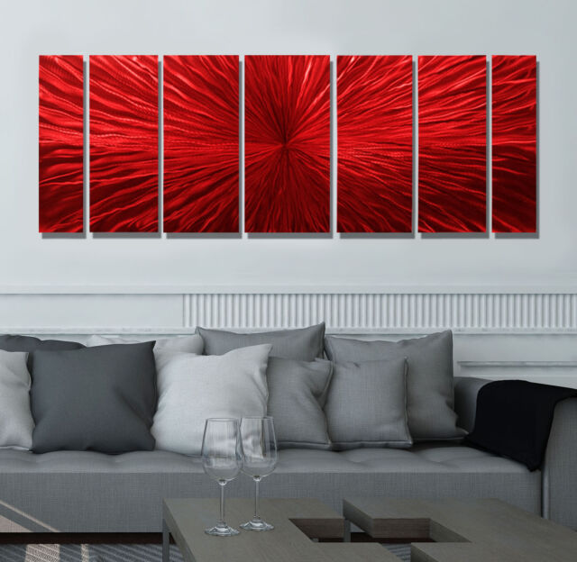 "Large Modern Abstract Metal Wall Art Sculpture Painting ""Intensity"" By Jon Allen"
