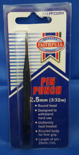 FAITHFULL Round Head Parallel Pin Punch 2.5mm ****FREEPOST*** 3//32in