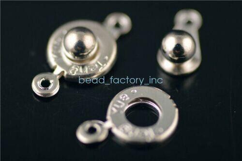 17x10mm 50 Sets charms métal collier bracelet Connecteurs Snap Fastener Fermoirs