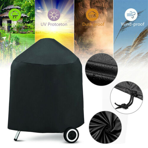 Black Kettle Barbecue/BBQ Waterproof Outdoor Garden Smoker Firepit Rain UV Cover