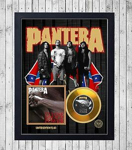 PANTERA-VULGAR-DISPLAY-CUADRO-CON-GOLD-O-PLATINUM-CD-EDICION-LIMITADA-FRAMED