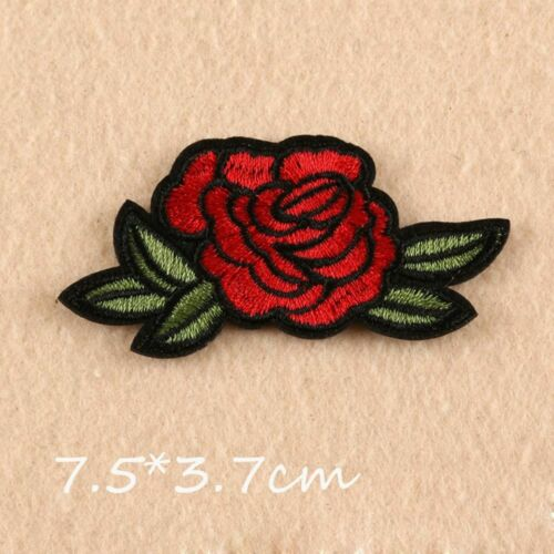 11pcs//set New Craft Motif T-shirt Flowers Embroidered Applique Patch Sew//Iron on
