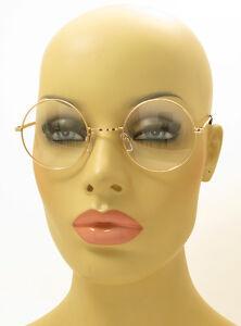 New Vintage Style Clear Lens Round Glasses Gold Metal Frame Unisex Eyeglasses