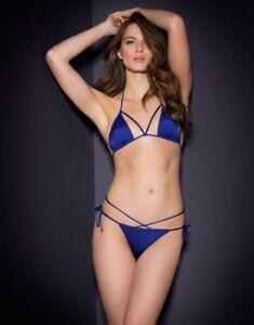 75b4e92510 Image is loading Agent-Provocateur-FIORELLA-Bikini-S-2-NWT-Blue-