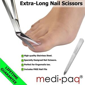 Medipaq-LONG-REACH-Handle-Scissors-EXTRA-LEVERAGE-for-Tough-Toenails