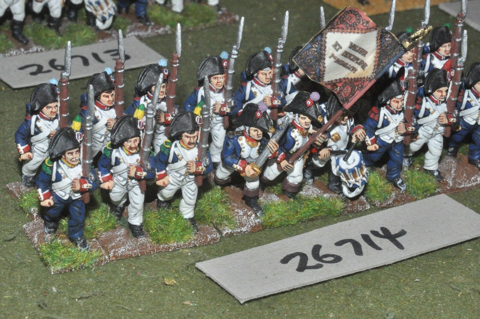 25mm napoleonic   french - line 18 figures - inf (26714)