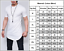 Men-Longline-Casual-Shirt-Curved-Hem-Plain-Short-Sleeve-Slim-Fit-T-Shirt-Top-Tee thumbnail 2