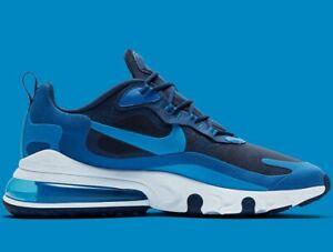 Détails sur ⚫ 2020 nike air max 270 réagissent ® (Hommes Tailles UK: 13 & 14) bleu videphoto Bleu afficher le titre d'origine