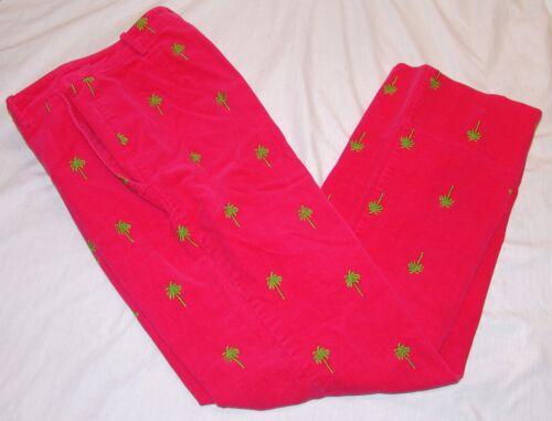 4 côtelé Pantalon en rose brodés Pulitzer Sz Lilly velours Palmiers zwTH1p