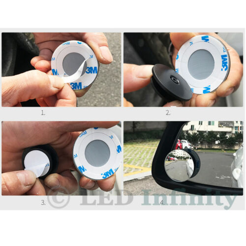 2 pcs 360° Adjustable Rearview Blind Spot Convex Mirror For All SUV Truck Cars