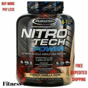 Muscletech Nitro Tech Power Ultimate Muscle Whey Protein French Vanilla 4 lb