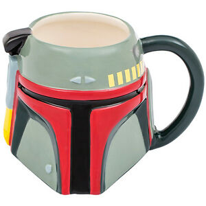 NEW Star Wars Collectible Boba Fett Helmet Sculpted 20 Oz Ceramic Coffee Cup Mug