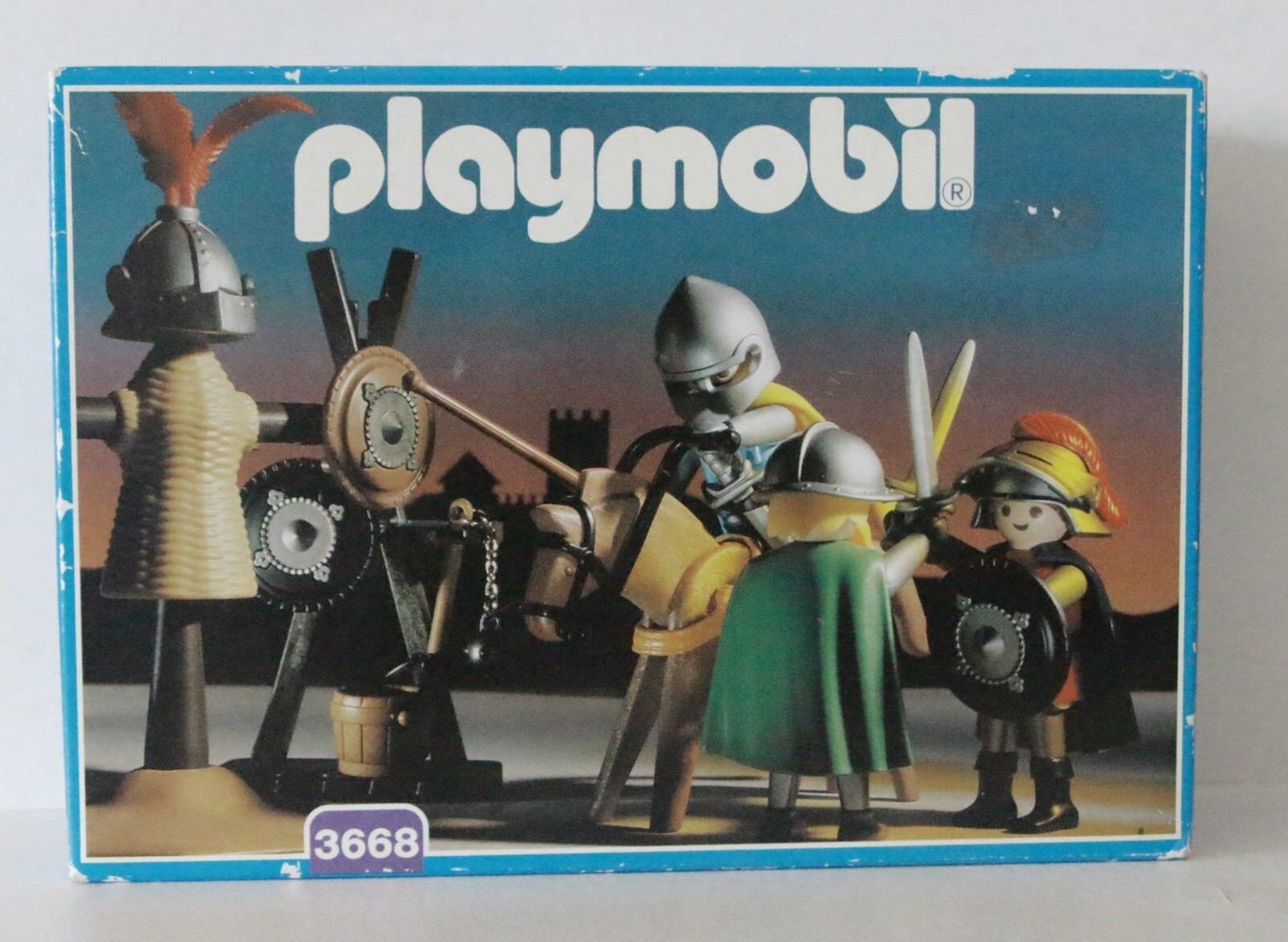 PLAYMOBIL 3668 KNIGHTS TRAINING FIELD MIB * OVP * MIB * SPECIAL