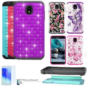 Phone Case For Samsung Galaxy J3 Orbit S367vl Shock Absorbing Crystal Cover Ebay