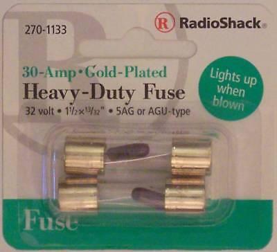 RadioShack 30A 32V AGU 5AG Automotive Fuses 1-1//2 x 13//32 30 Amp 32 Volt 2//PK