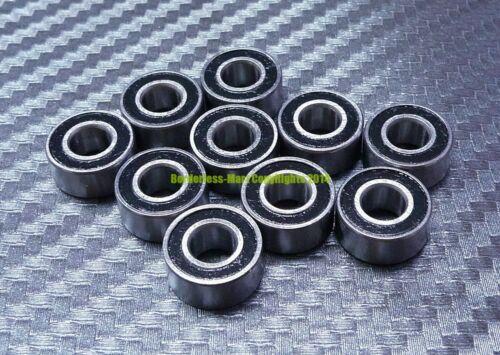 MR117-2RS Rubber Sealed Ball Bearings Bearing MR117RS BLACK 7x11x3 mm 5 Pcs