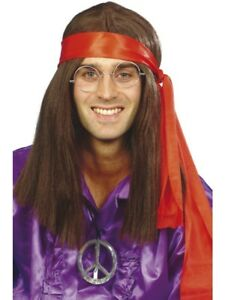 Hippy-Man-Kit-60s-Groovy-Hippie-Adult-Mens-Smiffys-Fancy-Dress-Costume-Accessory