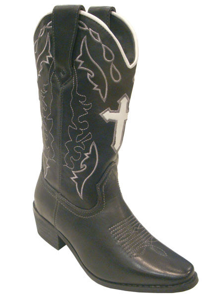 Women Western Boots Cross Fashion Cowboy Lined Ladies by Via Veneto CASSIDY