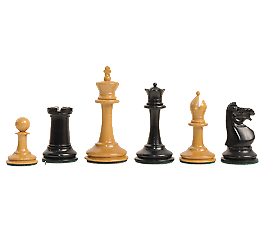 The Library Collection - Anderssen Dropjaw Series Luxury Chess Set - Pieces Only