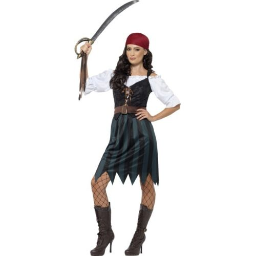 Women's Pirates Of The Caribbean Deckhand Fancy Dress Costume