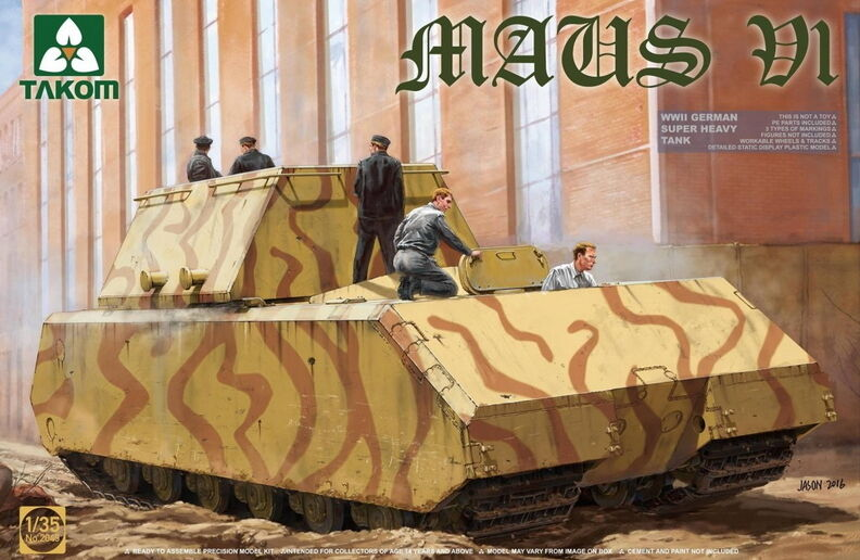 Takom Models 1 35 WWII German Super Heavy Tank Maus V1