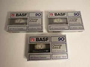 BASF 90 CHROME EXTRA II BLANK SEALED CASSETTE TAPE 1