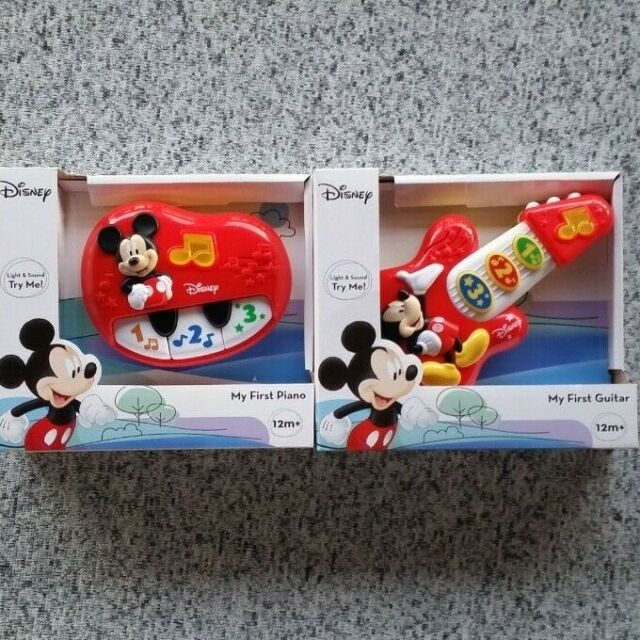 Disney Mickey Mouse Fun House My First Guitar /& Piano Electronic Lights /& Sounds