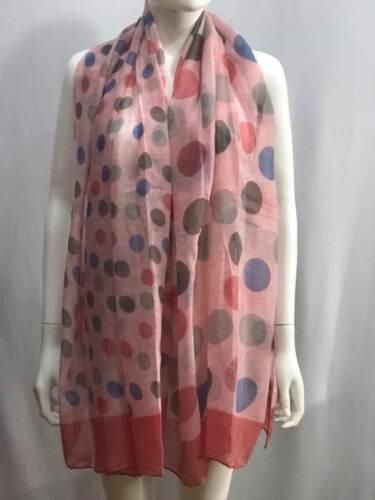 Women Ladies Summer Scarf Long New Polka Dot Print Shawl Warp Stole Big Scarves