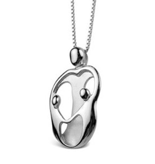 Loving family small mother and 2 children necklace silver mother s loving family small mother and 2 children necklace silver mothers jewelry aloadofball Images