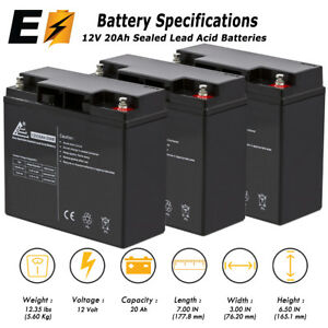 Rechargeable, high Rate para Systems Minuteman MSU 700i Replacement Battery Pack